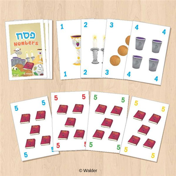 Pesach Numbers Deck Of Cards