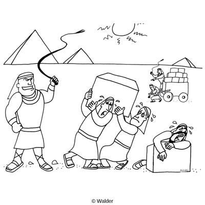 Hebrew Slaves In Egypt Clip Art Sketch Coloring Page