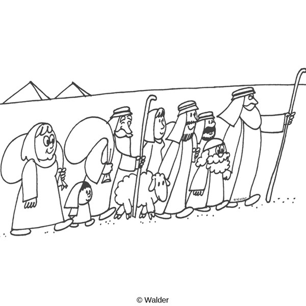 israelites leaving egypt coloring pages - photo#7