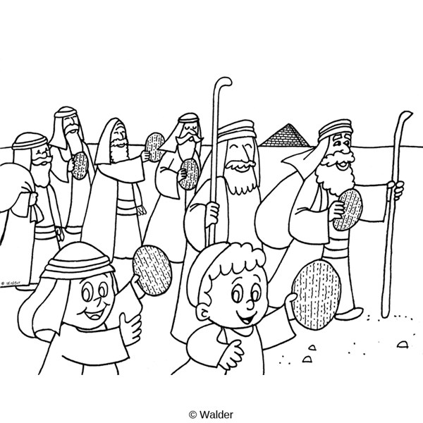 israelites leaving egypt coloring pages-#14