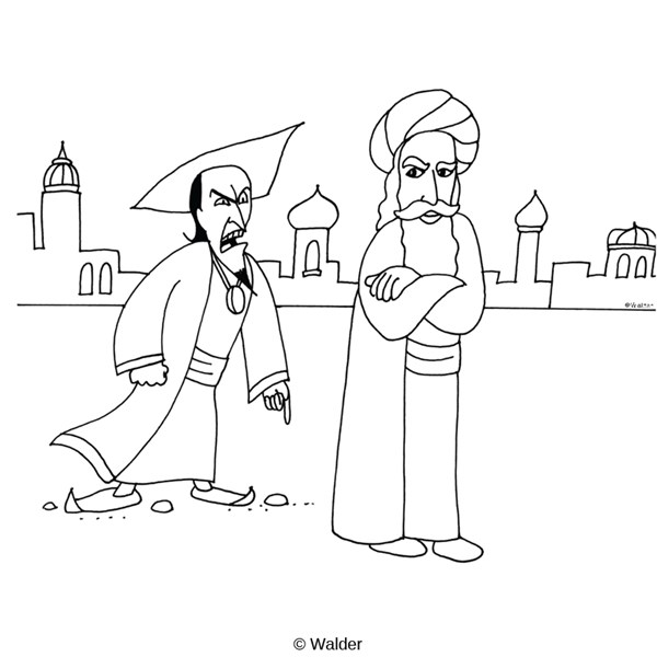 mordecai and haman coloring pages - mordecai free coloring pages