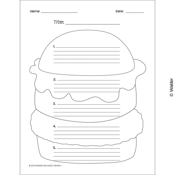 hamburger essay template walder education hamburger essay template