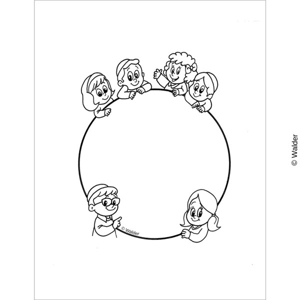 Children around a Circle