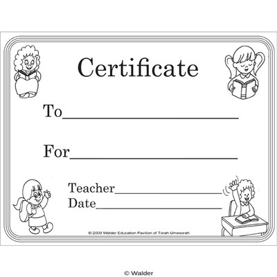 Certificate for Girls