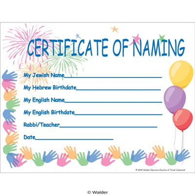 Certificate of Naming