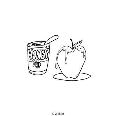 Apple covered in Honey
