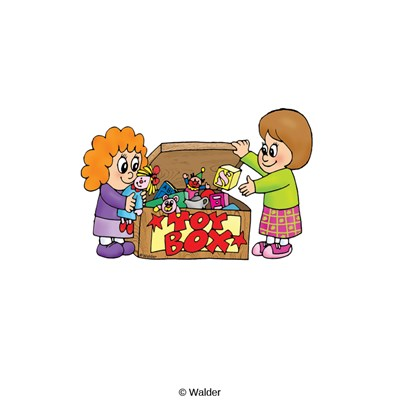 Kids Putting Toys Away Clipart