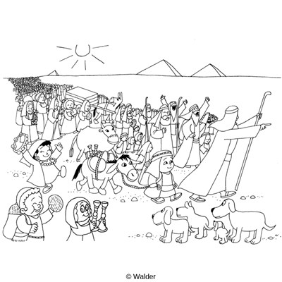 israelites leaving egypt coloring pages - photo#4