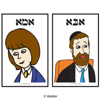Alef Beis Word/Picture Flashcards