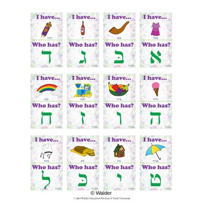 Alef-Beis Initial Sounds �I Have, Who Has?� Game
