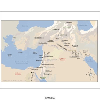 Map of Israel and Surrounding Countries From Biblical Times (Times ...