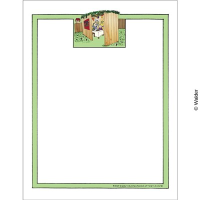 Boy and Girl in a Sukkah Unlined Border