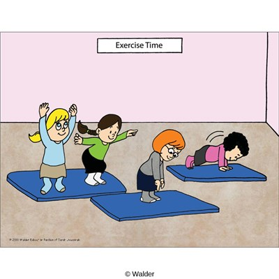Scene:     Exercise Time