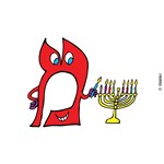 Cartooned Hebrew Alphabet: Mem