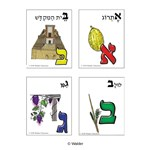 Illustrated Print Alef Beis Flashcards
