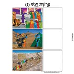 Parshas Vayigash Sequencing in Hebrew and English