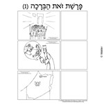 Parshas Vezos Habrachah Sequencing in Hebrew and English