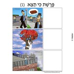Parshas Ki Seitzei Sequencing in Hebrew and English