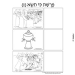 Parshas Ki Sisa Sequencing in Hebrew and English