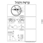 Parshas Vayakhel Sequencing in Hebrew and English
