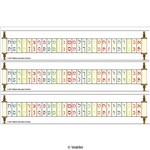 Colorful Alef Beis and Rashi Script Desk Strip