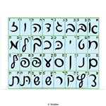 Alef Beis Poster in Script Rashi Print small