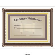Certificate of Acheivement in Torah Studies