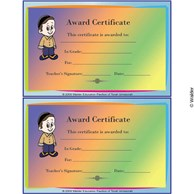 Award Certificate for Boys