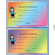 Award Certificate for Girls