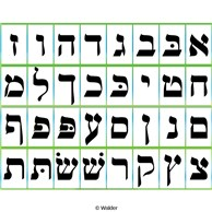 Needlepoint Canvas Hebrew Aleph Bet with by pepitaneedlepoint