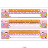 Rainbow and Flowers Desk Strip