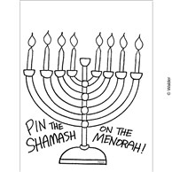 Pin The Shamash on the Menorah Game