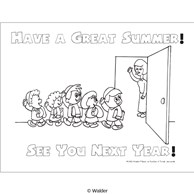 Have a Great Summer See You Next Year. Teacher and students Handout