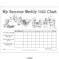 My Summer Weekly Mitzvah Chart