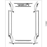 Lag Baomer Bow and Arrow Border Unlined