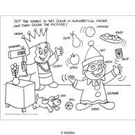 Purim Alphabet Activity Sheet