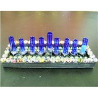 Chanukah Marble and Tile Menorah