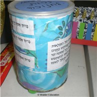 Collage Candle Holder for Chanukah