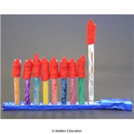 Preschool Fireless Menorah