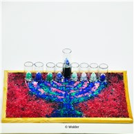 Glass Menorah