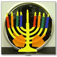 Color Forms Chanukah Menorah Decoration