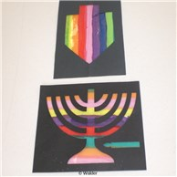 Stained Glass Menorah/Dreidel