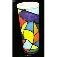 Faux Stained Glass Megillah Holder
