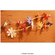 Foam Flower Sukkah Chain
