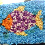 Tissue Paper Art for Rosh Hashana or All Year Round