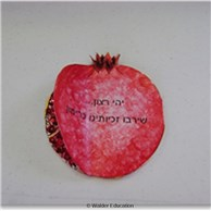 Sequin Pomegranate Rosh Hashanah Card