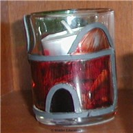 �Leaded� Stained Glass Candle Holder