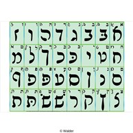 Alef Beis in Rashi script with print and script (small)