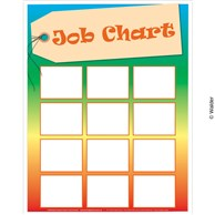 multicolored job chart