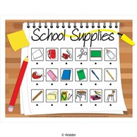 names of different school supplies interactive